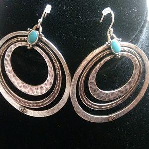 Lucky Brand dangle hoop earrings